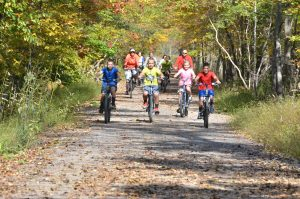 Bikers biking with Pocono Biking in Jim Thorpe, PA