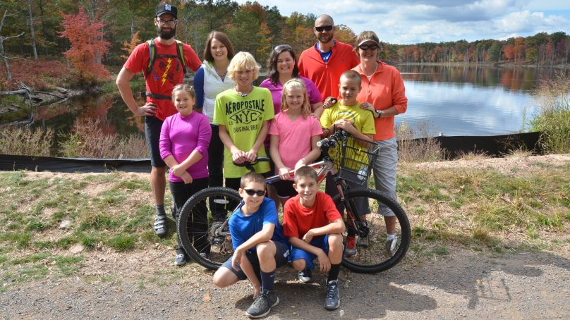 Biking Group, pedals and paddles