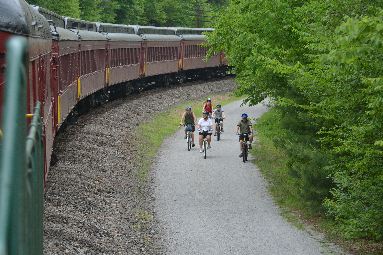 bike train  pocono biking bike train trip
