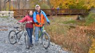 rail trail biking with pocono biking in jim thorpe, pa