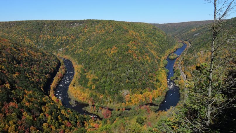 Overlook of the Lehigh River, Poconos