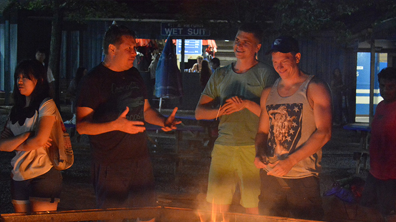 Pocono Biking, Big Night Out, Bonfire