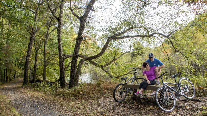 Pocono Biking, Jim Thorpe Biking, Rails to Trails, D&L National Heritage Corridor