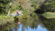 Biking, Rail Trail, D&L National Heritage Corridor, Jim Thorpe