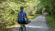 Biking on the D&L trail through the Lehigh Gorge State Park