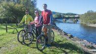 spring break student deals, Bikers biking on the D&L trail