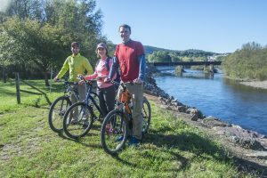 spring break student deals, Bikers biking on the D&L trail