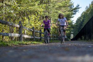 bike ride on the trail