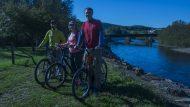pocono biking twilight on the trail